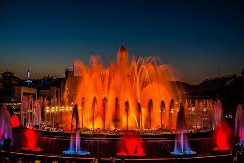 Montjuic Magic Fountain Barcelona